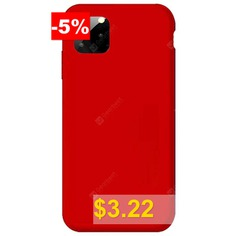 Naxtop #TPU #Soft #Silicone #Rubber #Microfiber #Lining #Shockproof #Full-Body #Protective #Phone #Case #Cover #for #iPhone #11 #Pro #Max #/ #11 #Pro #/ #11 #- #RED
