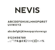 nevis #font #typeface