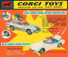 Illustrated 007 - The Art of James Bond: Corgi Display Sign #packaging #bond #james #film #movies