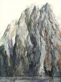 The Monk : Yevgeniya Draws #mountain #line #drawing