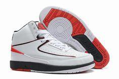 Nike AJ II (2) Retro White - Varsity Red/Black Basketball Shoes for Mens #fashion