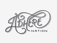Adhere_nation_logo #logo #lettering