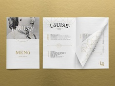 Taverne Louise is a new restaurant whose menu and identity reflects a crossroads between tradition and modernity. For more of the most beautiful designs visit mindsparklemag.com