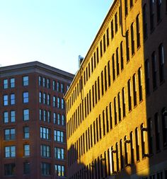 Photography #urban #boston #city #yellow #color #warehouse #buildings