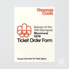Image of Montréal 1976 Ticket Order Form + Sleeve