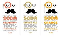 Vlinder blog | my world of design #packaging #design #mustache #illustration #soda