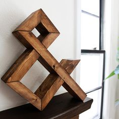 Workerman Wooden Ampersand via Design*Sponge #wood #letters #brown #decoration