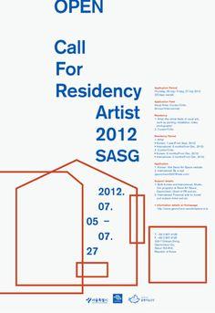 Call for Residency Artist 2012 Poster #poster