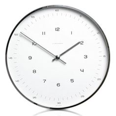Max Bill Modern Wall Clock with Numbers ($200-500) — Svpply