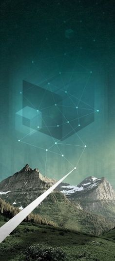 Flash Cube #mountain #photo #landscape #illustration #energy #flash #cube