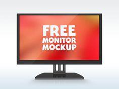 Free Monitor Mockup