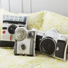 Vintage Camera Pillows by In The Seam #tech #flow #gadget #gift #ideas #cool