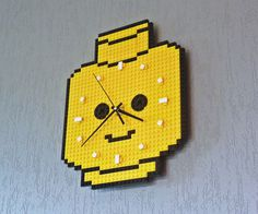 Clock Made Of Lego Bricks – Minifig Head #cool gadget #gadget #gadget flow #gift ideas #tech