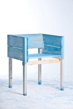 Tenmagblog | LUCAS Y SUS HIJOS #chair #maassen #diy #wood #furniture #blue #lucas