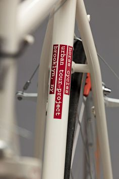 Horse Cycles Urban Tour Project #frame #red #bicycle #bike #typo