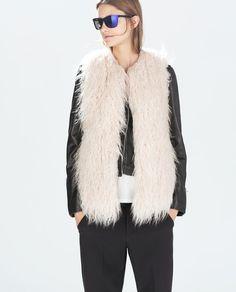 ZdjÄ™cie 4 FUTRZANA KAMIZELKA z Zara #zara #leather #fur