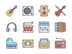 5 Free Music Icon Sets for Your Interface Project