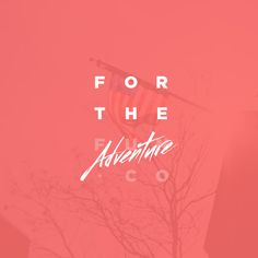 For the adventure #branding #design #logo #identity #type