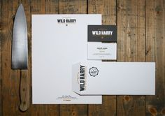 Graphic-ExchanGE - a selection of graphic projects #wild #business #branding #card #harry #envelope #letterhead #logo #knife