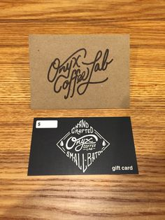 Onyx Coffee Lab gift card #script #onyx #coffee #logo #typography