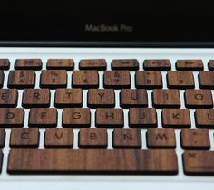 CJWHO ™ (A wooden keyboard made from Rosewood and Bamboo...) #sexy #macbook #apple #gadgets #keyboard #crafts #bamboo #design #wood #photography #rosewood #luxury