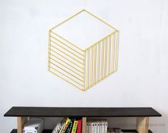 33-woodstick #stick #art #optical #illusion #diy #wall