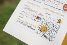 Event information #screen #print #map #typography