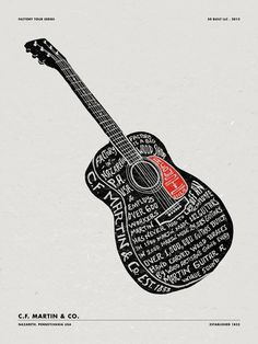 MARTIN GUITARS #typography #guitar