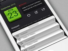 User interface inspiration #iphone #interface