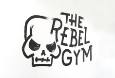 The Rebel Gym mural – by Studio Lookout #mural #gym #painting #typography