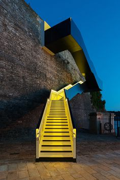 CJWHO ™ (Dazzling Cantilevered Staircase at Royal William...) #design #architecture #colors #landscape #stairs