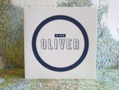 Oliver's Sweet Letterpress Birth Announcements   Invitation Crush #invitation #print #design #announcement #paper #baby