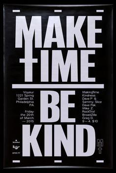 Make Time Be Kind