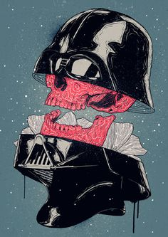 Bruno Miranda Darth Vader #bruno #miranda #design #graphic #wars #illustration #vader #star #darth #skull