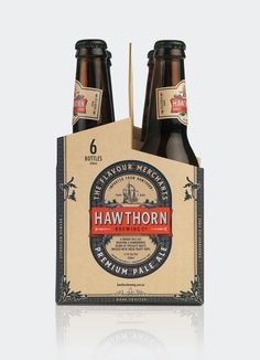 Hawthorn Brewing Co. #logo #branding #packaging #drink #beer #beer packaging #beer label #pilsner #food packaging #pale ale #hawthorn #hawth