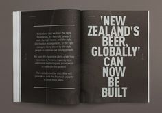 Best Awards One Design. / Moa Brewing Co Investment Statement #design #graphic