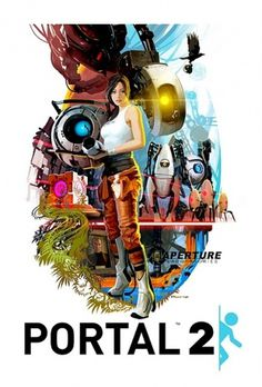 Tristan Reidford Art: Portal2 70s style movie poster! #videogame #portal2 #poster
