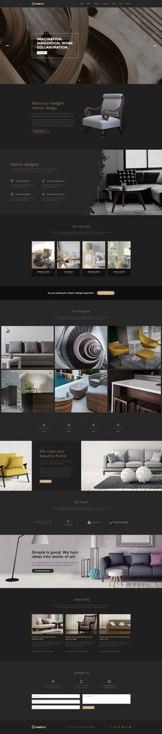 LeadGen Marketing Landing Page - Interior Design, buy - https://goo.gl/KD0bMP