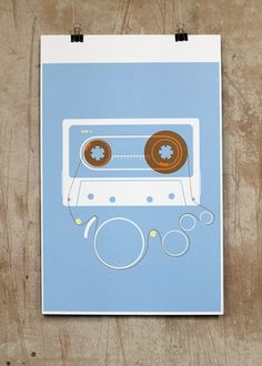 Compact Cassette #tape #cassette #analog #compact #augustforeman #illustration #minimal