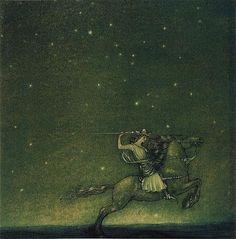 Fil:Riddaren rider, John Bauer 1914.jpg - Wikipedia #folklore #sweden #bauer #john #art