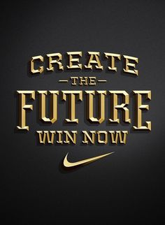 Nike - Create The Future Pitch on the Behance Network #jordan #nike #metclaf #typography