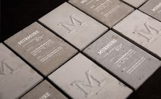 Agency Creates Business Cards Out Of Concrete - DesignTAXI.com #business #packaging #card #design #graphic