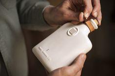 Beautiful ceramic flask design.