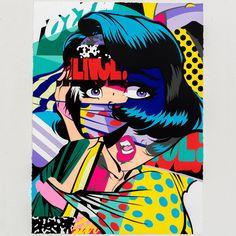 #illustration #burn #woman #pop #art # colors