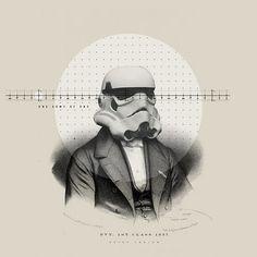 The Collective Loop #graphic design #vintage #star wars #storm trooper #nick agin