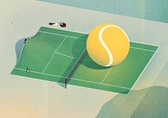 Tennis #illustration #tennis #texture