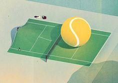 Tennis #illustration #tennis #texture
