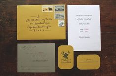Rustic and Woodsy Faux Bois Wedding Invitations | Oh So Beautiful Paper
