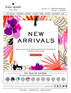 New Arrivals Kate Spade #arrival #new #design #emailer #spade #newsletter #fashion #mailer #kate