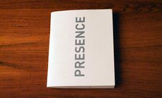 Presence #event #print #publication #schedule #editorial #brochure